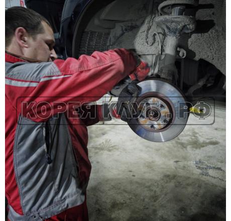 Внедорожник замена передних тормозных дисков и колодок