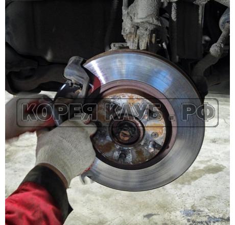 Кроссовер замена передних тормозных дисков и колодок
